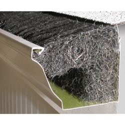Rain Flow Gutter Protection allows water to flow through but leaves to remain outside.