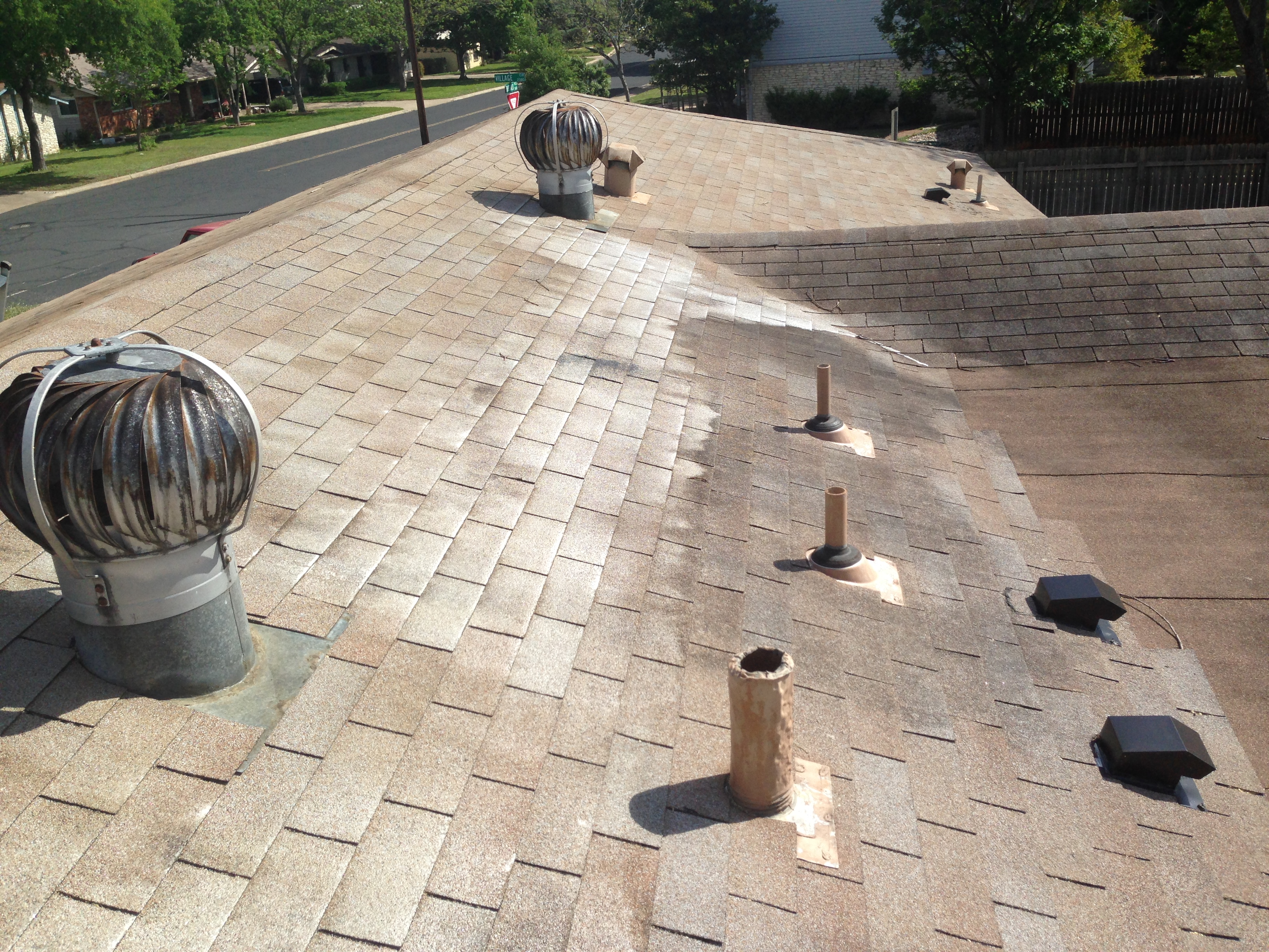 Shingle roof cleaning sparkling clean window company blog Sparkling image roof exterior cleaning