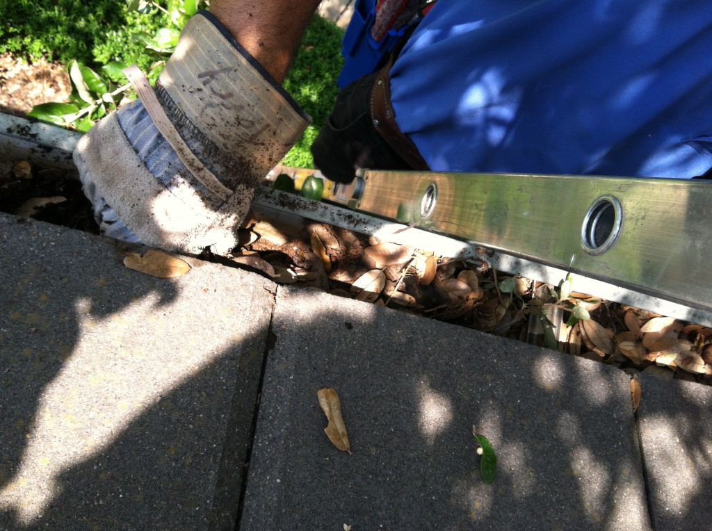 We will clean out all of the leaves and debris from your gutters and downspouts so you don't have to!