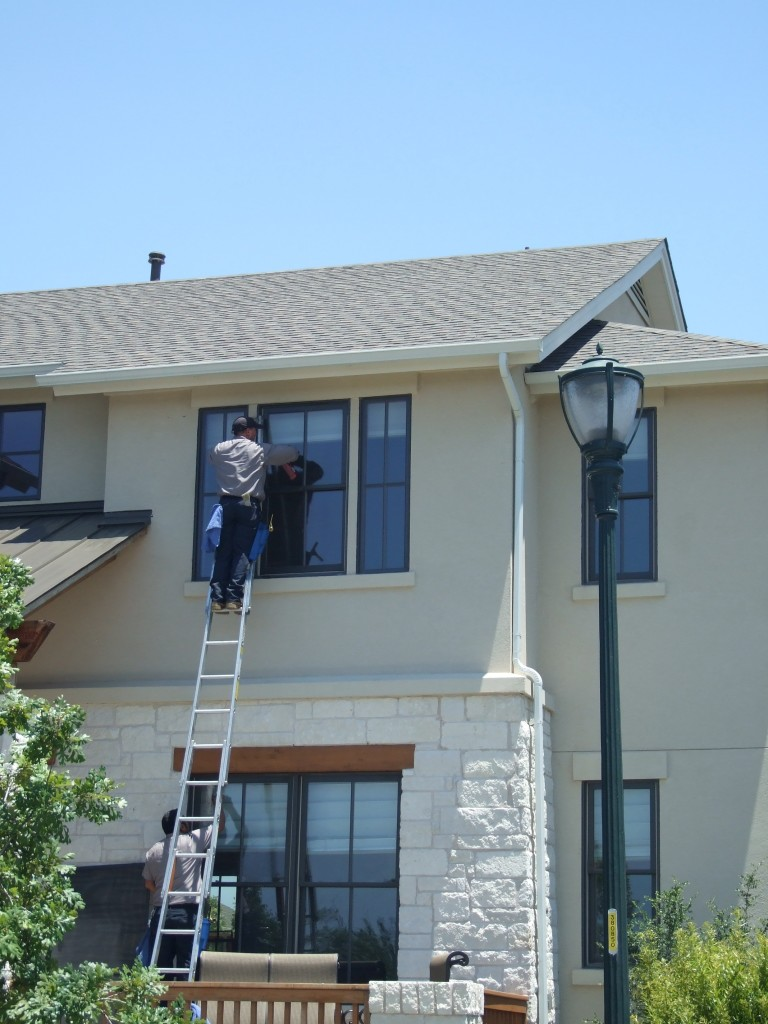 Extension Ladder Window Cleaning