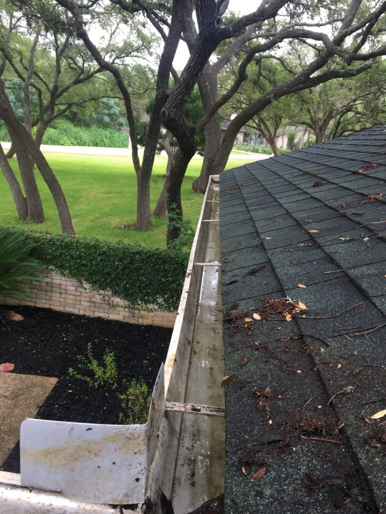 Clean gutters prevent damage to the roof and fascia.